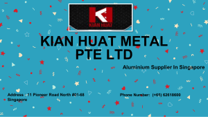 Mild Steel Supplier Singapore KIAN HUAT METAL PTE LTD