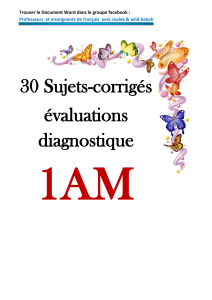 1AM- 30-sujets-corriges-evaluations diagnostique -1am