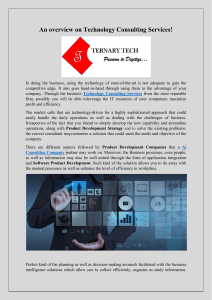 An overview on Technology Consulting Services!