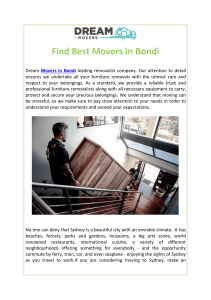 Find Best Movers in Bondi