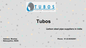 Titanium pipe suppliers by Tubos