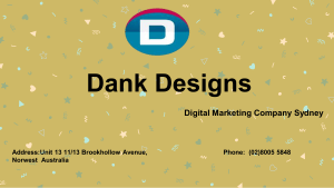 Digital Marketing Company Sydney Dank Designs