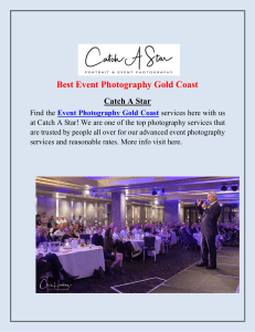 Event Photography Gold Coast