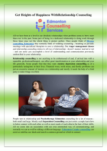 Get Heights of Happiness With Relationship Counseling