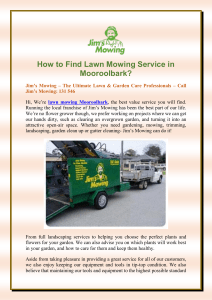 How to Find Lawn Mowing Service in Mooroolbark?