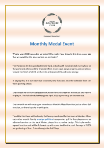 Monthly Medal Event