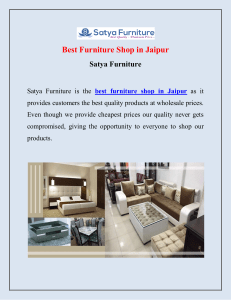 Best Furniture Shop in Jaipur  Satya Furniture