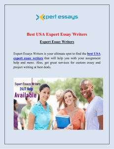 Best USA Expert Essay Writers
