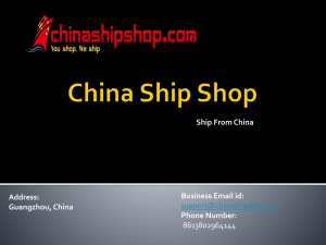 Get best Shipping From China at chinashipshop.com