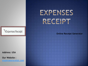 Receipt Generator by Expenses receipt