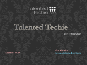 Hiring Candidates For IT Job at Talented Techie