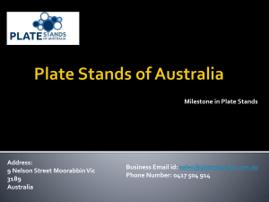Plate Stands of Australia Book Stand