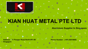 Metal Fabrication Singapore by KIAN HUAT METAL PTE LTD