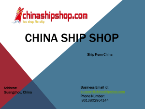 Package Delivery Service China by Chinashipshop