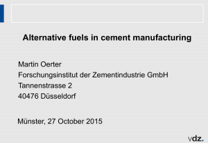 Alternative fuels in cement manufacturing
