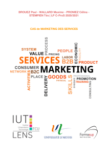 CAS Marketing des services
