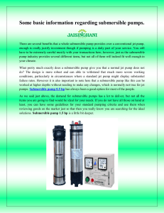 Some basic information regarding submersible pumps