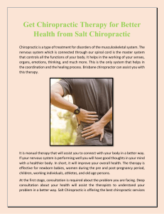 Get Chiropractic Therapy for Better Health from Salt Chiropractic