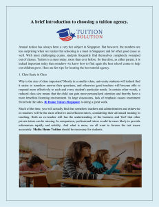 A brief introduction to choosing a tuition agency