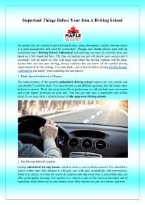 Important Things Before Your Join A Driving School