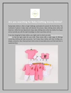 Are you searching for Baby Clothing Stores Online?