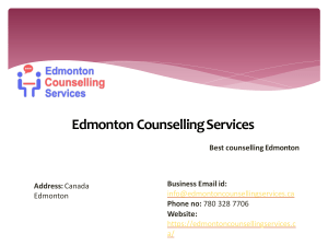 CBT counselling by Edmonton Counselling Servcies