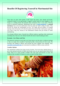 Benefits Of Registering Yourself in Matrimonial Site