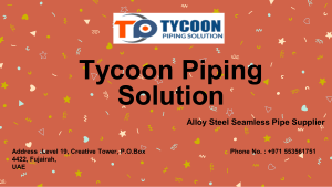 304 Stainless Steel Tube Tycoon Piping Solution
