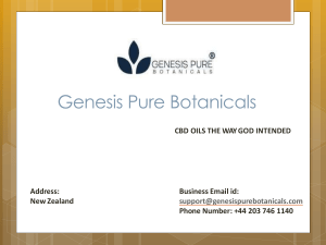 Concentrated Hemp Oil by Genesis Pure Botanicals
