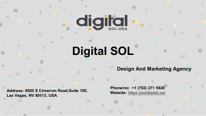 Marketing And Advertising Agency - Digital SOL