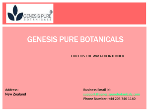 Cannabis Oil New Zealand by Genesis Pure Botanicals