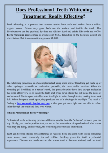 Does Professional Teeth Whitening Treatment  Really Effective
