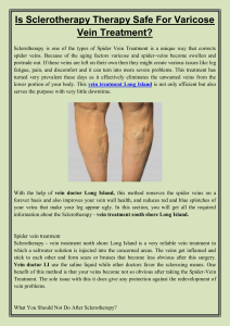 Is Sclerotherapy Therapy Safe For Varicose Vein Treatment