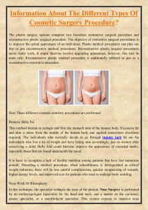 Information About The Different Types Of Cosmetic Surgery Procedure