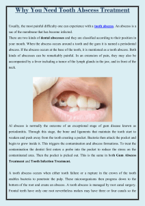 Why you need tooth abscess treatment