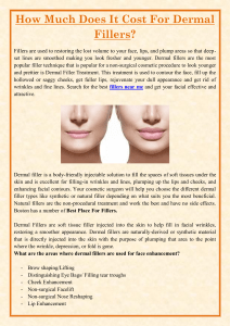 How Much Does It Cost For Dermal Fillers