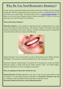 Why Do You Need Restorative Dentistry