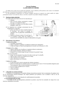 A0- La securite en chimie
