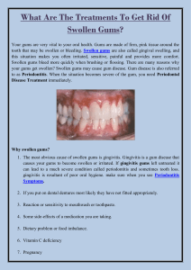 What Are The Treatments To Get Rid Of Swollen Gums