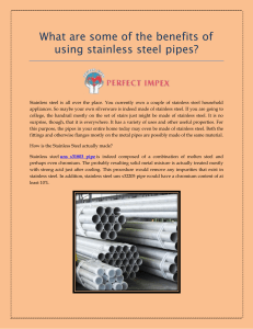 What are some of the benefits of using stainless steel