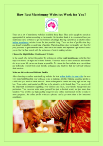 How Best Matrimony Websites Work for You