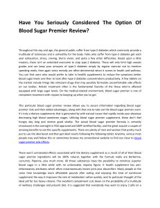 Blood Sugar Premier