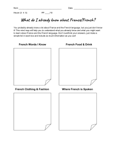 What do I know about France French