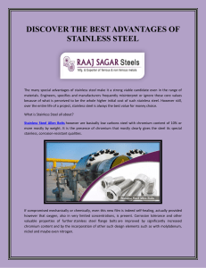 DISCOVER THE BEST ADVANTAGES OF STAINLESS STEEL (1)
