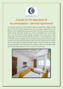A Guide To The New Style Of Accommodation – Serviced Apartments