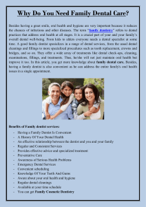 Why Do You Need Family Dental Care