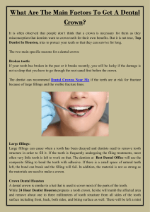 What Are The Main Factors To Get A Dental Crown