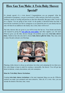 How Can You Make A Twin Baby Shower Special
