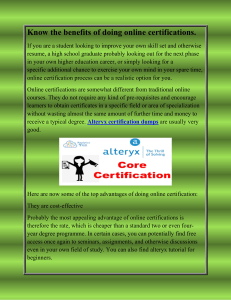 Know the benefits of doing online certifications-converted