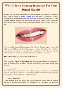 Why Is Teeth Cleaning Important For Your Dental Health
